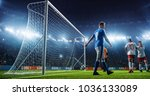 soccer game moment  on... | Shutterstock . vector #1036133089