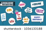 colorful photo booth props set... | Shutterstock .eps vector #1036133188