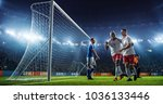 soccer game moment  on... | Shutterstock . vector #1036133446