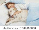 beautiful little girl with... | Shutterstock . vector #1036133830