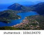 lefkada island  ionian sea ... | Shutterstock . vector #1036134370