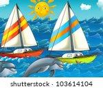 The sailboat run - stock photo