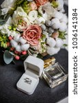 beautiful wedding decor | Shutterstock . vector #1036141384
