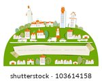city background and paper...   Shutterstock . vector #103614158