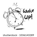 alarm clock sketch | Shutterstock .eps vector #1036143289