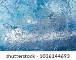 the texture of the ice. the... | Shutterstock . vector #1036144693
