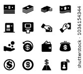 solid vector icon set   dollar... | Shutterstock .eps vector #1036154344