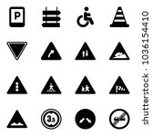 solid vector icon set   parking ... | Shutterstock .eps vector #1036154410