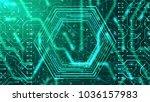 a hi tech 3d illustration of a...   Shutterstock . vector #1036157983