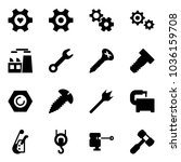 solid vector icon set   heart... | Shutterstock .eps vector #1036159708