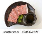 japanese raw kobe beef on black ...   Shutterstock . vector #1036160629