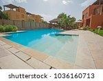 luxury villa show home exterior ... | Shutterstock . vector #1036160713