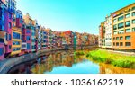 colorful houses at river onyar... | Shutterstock . vector #1036162219