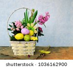colorful eggs and spring flowers   Shutterstock . vector #1036162900