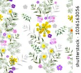 trendy floral pattern in the... | Shutterstock .eps vector #1036163056