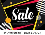 sale banner layout design | Shutterstock .eps vector #1036164724