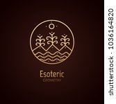 vector logo of nature geometric ... | Shutterstock .eps vector #1036164820