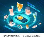 biometric authentication users... | Shutterstock .eps vector #1036173283