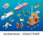 underwater depths research... | Shutterstock .eps vector #1036173289