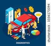 auto service equipment... | Shutterstock .eps vector #1036173394