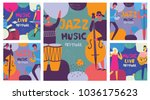 colorful music festival posters ... | Shutterstock .eps vector #1036175623