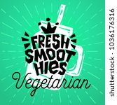 fresh smoothies vegetarian jar... | Shutterstock .eps vector #1036176316