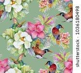 watercolor hand drawn seamless...   Shutterstock . vector #1036180498