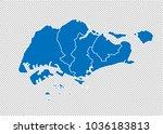 singapore map   high detailed... | Shutterstock .eps vector #1036183813
