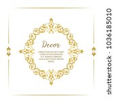 vector decorative frame.... | Shutterstock .eps vector #1036185010