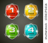 shield with guarantee one  two  ... | Shutterstock .eps vector #1036191616