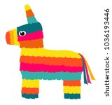vector colorful pinata isolated ...   Shutterstock .eps vector #1036193446