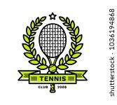 tennis emblem  illustration ... | Shutterstock .eps vector #1036194868