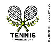 tennis tournament emblem ... | Shutterstock .eps vector #1036194880