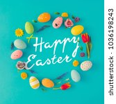 creative easter layout made of... | Shutterstock . vector #1036198243