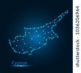 abstract map of cypus with... | Shutterstock .eps vector #1036206964