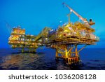oil and gas drilling rigs | Shutterstock . vector #1036208128