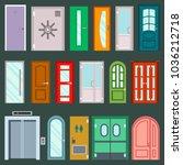 vector doors design furniture... | Shutterstock .eps vector #1036212718
