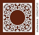 ornamental round frame  lace...   Shutterstock .eps vector #1036214710