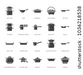 pot  pan and steamer glyph...   Shutterstock .eps vector #1036218538