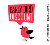 early bird special discount... | Shutterstock .eps vector #1036220968