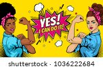 yes  i can do it poster. pop... | Shutterstock .eps vector #1036222684