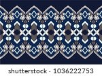 ikat geometric folklore... | Shutterstock .eps vector #1036222753