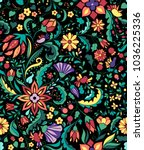 colorful and ornate ethnic... | Shutterstock .eps vector #1036225336