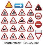 road signs | Shutterstock .eps vector #103622600