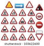 road signs | Shutterstock .eps vector #103622600