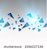 realistic triangles and  light ... | Shutterstock .eps vector #1036227136
