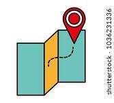 line color global map travel... | Shutterstock .eps vector #1036231336