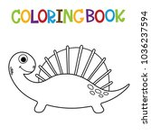 cute dino coloring book. | Shutterstock .eps vector #1036237594