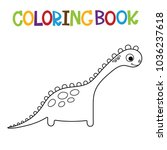 cute dino coloring book. | Shutterstock .eps vector #1036237618