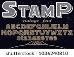 font alphabet typeface... | Shutterstock .eps vector #1036240810